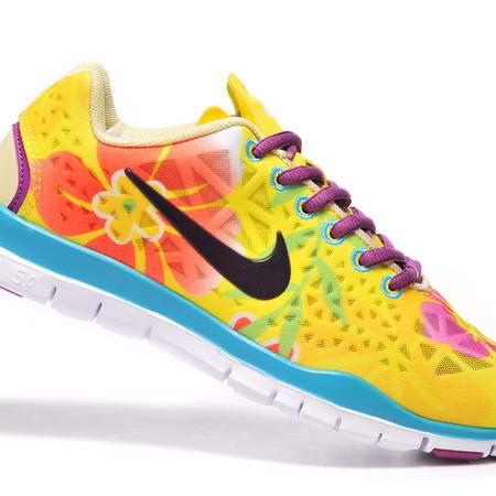 Nike耐克跑步鞋女子运动鞋赤足free5.0网面跑步鞋夏季579968-441