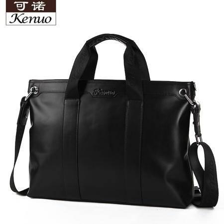 可诺新款男包商务男士手提包单肩包斜挎包包韩版牛皮公文包电脑包