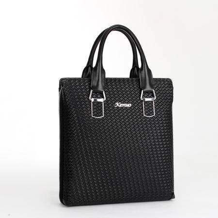 可诺新款牛皮包正品男包商务手提包公文包时尚单肩包斜挎包877-2