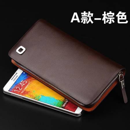 可诺新款正品男士手拿包 长款拉链钱包潮男手机钱包KN6170201