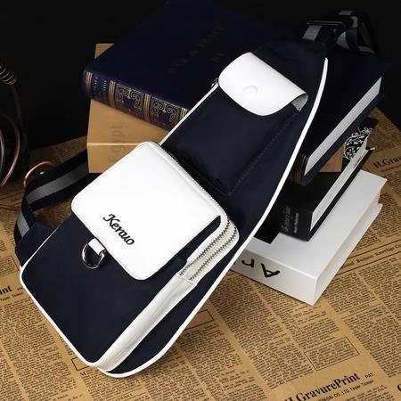 可诺新款腰包胸包男韩版潮包迷你斜跨小包包尼龙布男士包包726-1