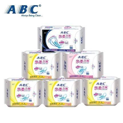ABC卫生巾超薄棉柔日用+夜用6包4K13+K14+K88