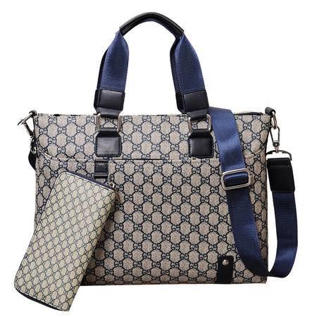 Diarlen男士手提包子母包商务公文包横款时尚韩版男包休闲单肩包斜挎包