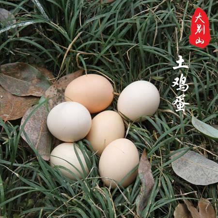 华之慧大别山正宗高山农家散养新鲜土鸡蛋笨鸡蛋柴鸡蛋40个包邮