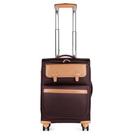 ~美国旅行者四轮拉杆箱20英寸Z66*03001-咖啡色