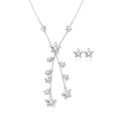 施华洛世奇水晶链坠和穿孔耳环套装5030390