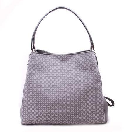 COACH蔻驰 麦迪逊系列欧普图案女款手袋26282 SV-LG 灰色