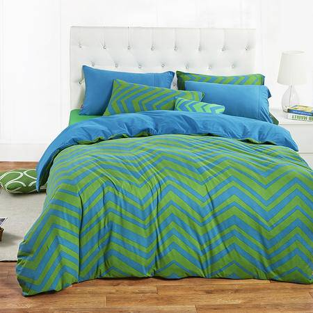 cozzy蔻姿家纺高支高密全棉针织床上用品三件套 夏威夷之恋1.2米6957533207960