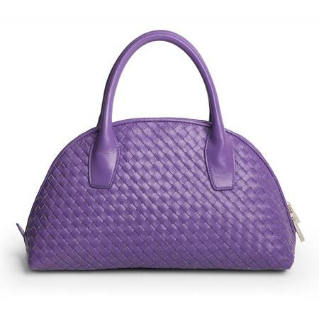 W.DIVA月光女神紫色羊皮手工编织手提/手挽包Y1300116