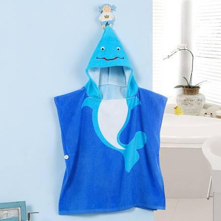 cozzy蔻姿kids蔻姿全棉儿童个性浴袍--蓝色海豚6957533213244