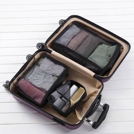 cozzy蔻姿life蔻姿 多功能透气旅行衣物收纳袋三件套 黑色6957533226909