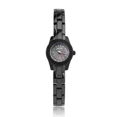 FolliFollie芙丽芙丽圆形精致时尚石英手表WF1E012BPK黑色