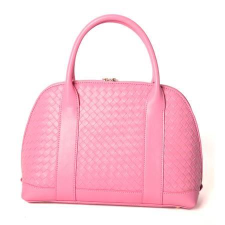 W.DIVA 高贵典雅贝壳定型包 粉红 Y1401315
