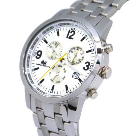 尼诺里拉 多功能瑞士机芯石英商务休闲精钢表带男士手表51015.011.01