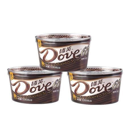 德芙醇黑66%黑巧克力3碗
