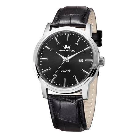 尼诺里拉 男士石英表精钢带手表休闲大表盘男表51008.221.02