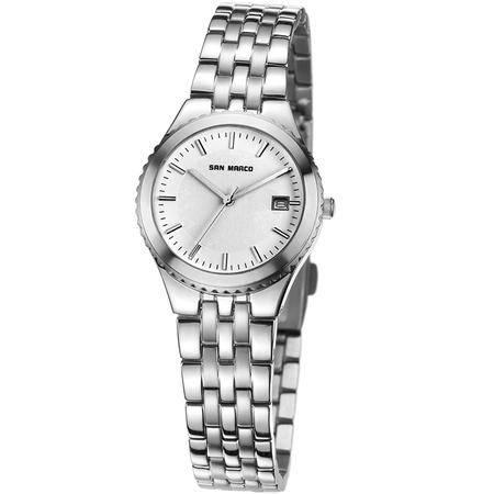 圣马可原装石英女表S5457L钢带手表