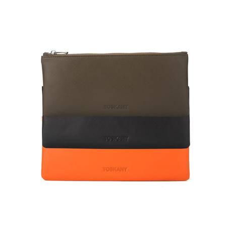 托斯卡尼TOSKANY 多功能拉链包TL66178 黑色、啡色、蓝色、绿色、粉色、橙色可选