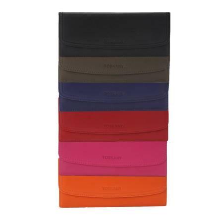 托斯卡尼TOSKANY 银包TL66124 黑色、啡色、蓝色、绿色、粉色、橙色可选
