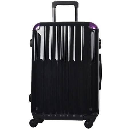 美而美四轮拉杆箱23英寸MZ-1010-黑紫