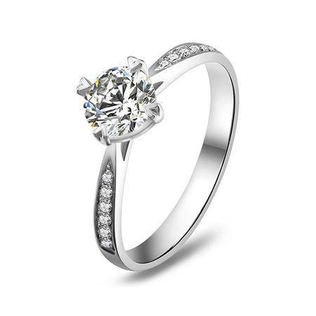 仟佰 18K金钻石戒指 完美 60分