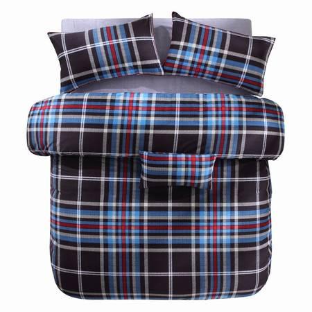 蔻姿家纺高支高密经典北欧全棉加厚磨毛床上用品四件套 布鲁克 1.5米6957533251215