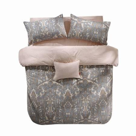 蔻姿家纺高支高密异域风情全棉加厚磨毛床上用品四件套 艾丽斯 1.5米6957533251116