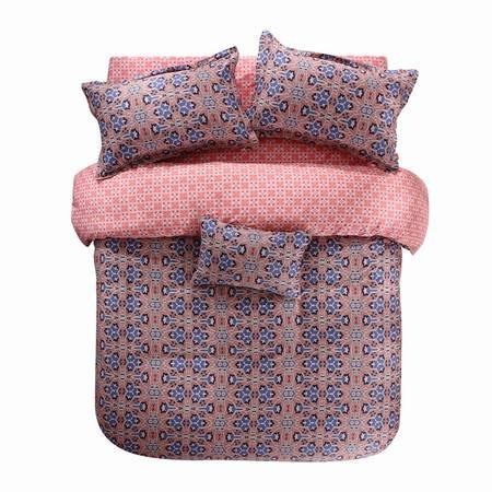 蔻姿家纺高支高密60支贡缎长绒棉床上用品四件套 玛德琳 1.8米6957533251925