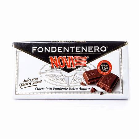 诺维72%特浓黑巧克力 意大利进口  100g 两块装