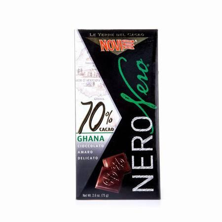 诺维70%特浓黑巧克力 意大利进口  75g 两块装