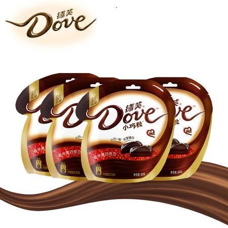 德芙巧克力 3口味随机发货 牛奶 奶香白 黑巧克力84g *4袋 零食