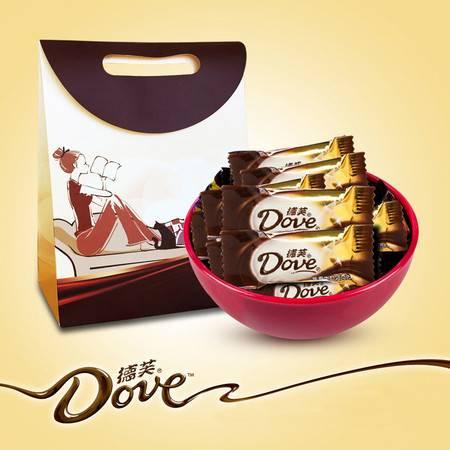 德芙 知性宅女经典丝滑牛奶巧克力500g礼盒装零食