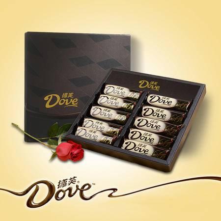 德芙爱意浓醇礼盒66%醇黑巧克力43g*10 礼盒装