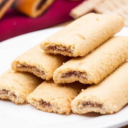 芬奇 无花果果酱夹心饼干、混合果酱夹心饼干、樱桃果酱夹心饼干165g(三盒装)