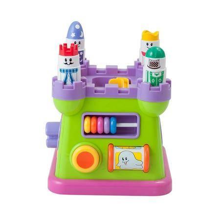 蓝盒宝宝儿童玩具婴儿早教益智玩具 彩色积木城堡