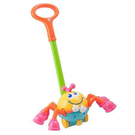 蓝盒宝宝儿童玩具婴儿早教益智玩具 可爱蜘蛛推车