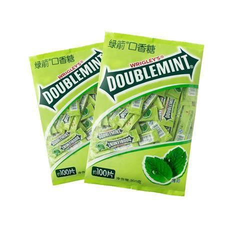 绿箭口香糖100片*2包装 箭牌原味薄荷味口香糖批发休闲零食43392445907