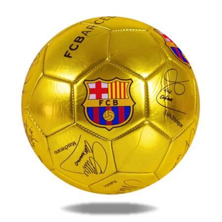 巴萨俱乐部珍藏纪念足球 带球星签名 荣耀金 荣耀银两色可选