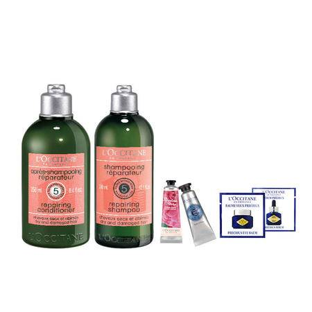 欧舒丹 5合1草本精华修护洗发套组(价值518元)