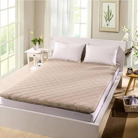 梦巢磨毛床垫1.5米驼色CD-01