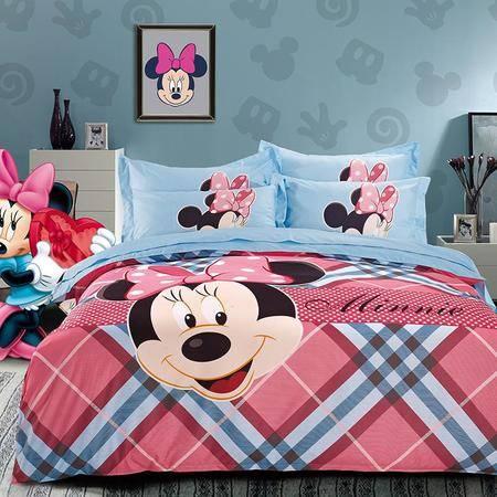 迪士尼磨毛高密四件套系列幸福米妮DSN16-X011