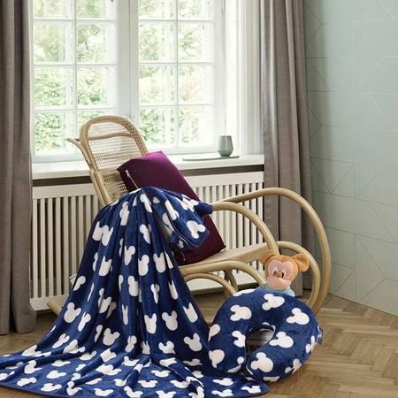 迪士尼车载系列米奇U型毯套装 蓝DSN15-D011