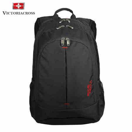 维士十字 瑞士军刀双肩背包商务电脑背包学生书包 VC3008-5601  黑色