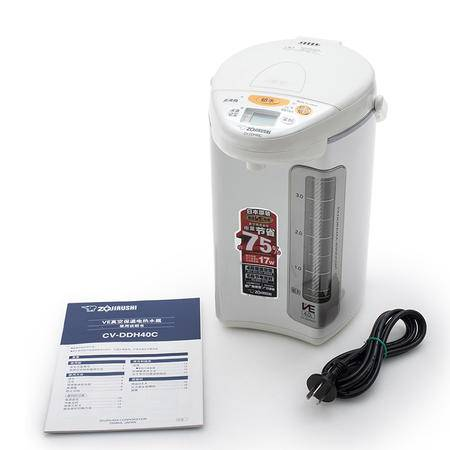 象印日本原装进口微电脑电热水瓶4L白色 CV-DDH40C