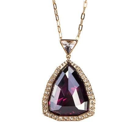 Swarovski施华洛世奇紫红色三角梨形项链5107362