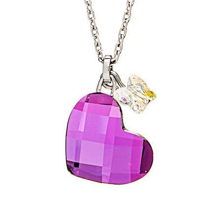 Swarovski施华洛世奇人造水晶粉色蝴蝶心991105