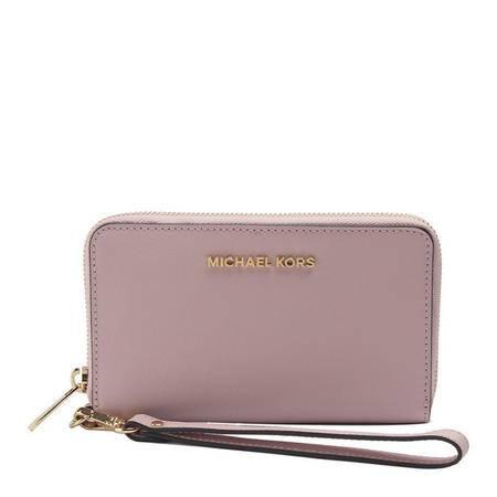 MICHAEL KORS 迈克·科尔斯  女士樱花粉色短款拉链钱夹钱包 32H4GTVE9L656