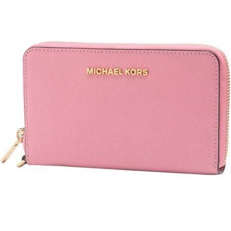 MICHAEL KORS 迈克·科尔斯  女士浅玫瑰色短款拉链钱夹钱包 32H4GTVE9L623