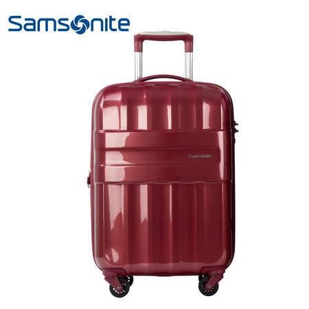 Samsonite新秀丽扩展层拉杆箱时尚设计旅行箱 24英寸 S43*60002酒红色