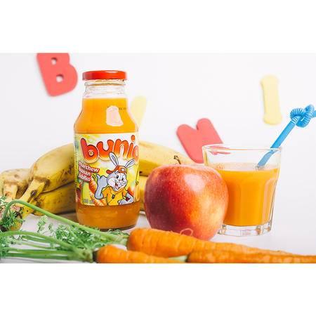 贝尼奥 波兰进口 复合果蔬汁饮料 胡萝卜香蕉苹果330 ml 五瓶装